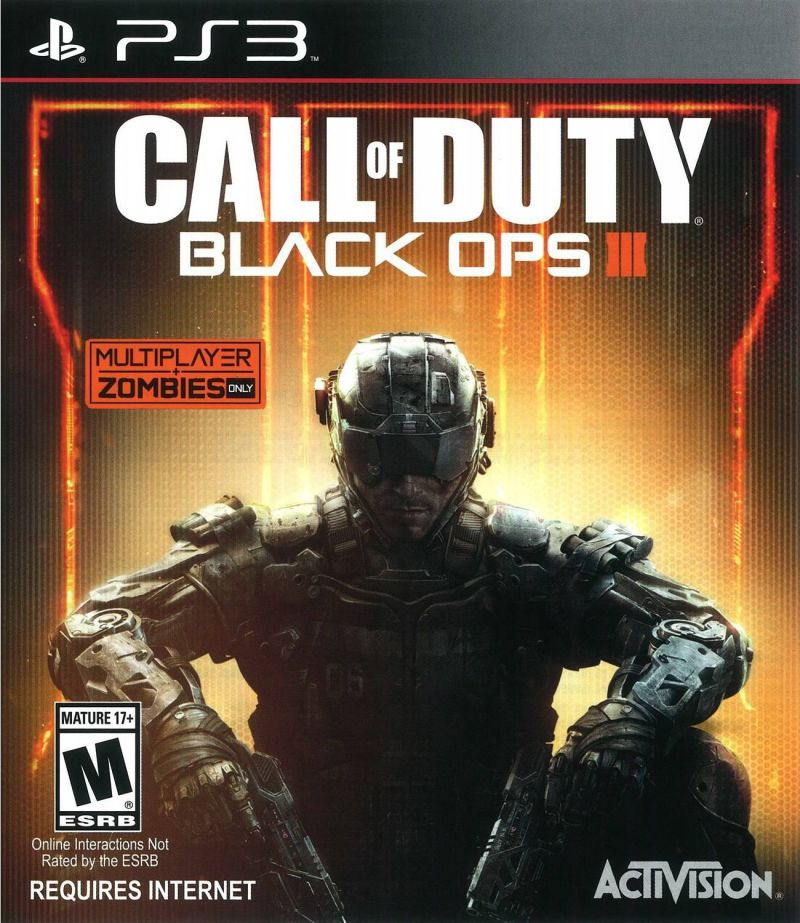 Call of Duty: Black Ops III PlayStation 3 Front Cover