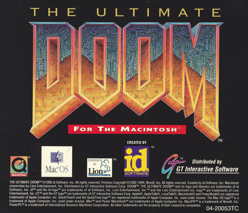 The Ultimate DOOM Macintosh Other Jewel Case/Back