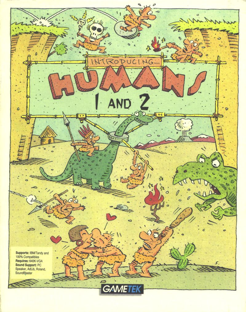 Humans 1 and 2 DOS Front Cover