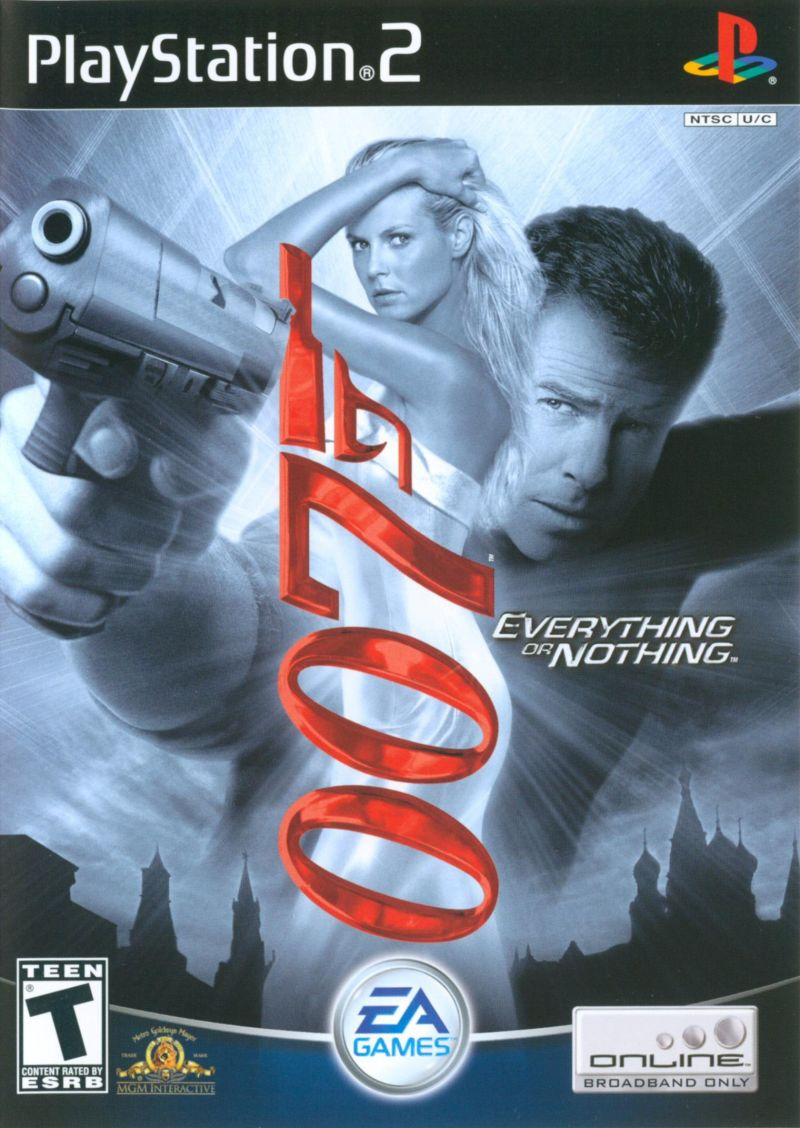 007: Everything or Nothing PlayStation 2 Front Cover