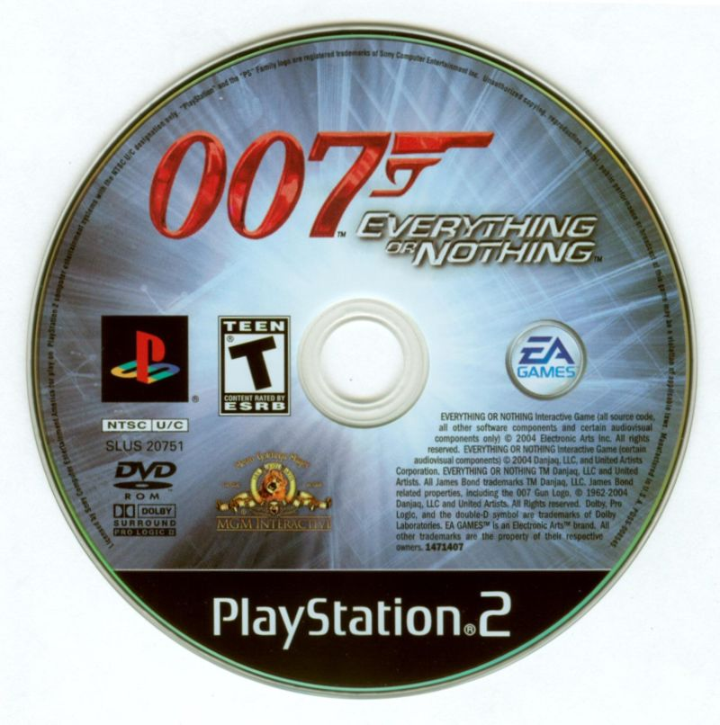007: Everything or Nothing PlayStation 2 Media