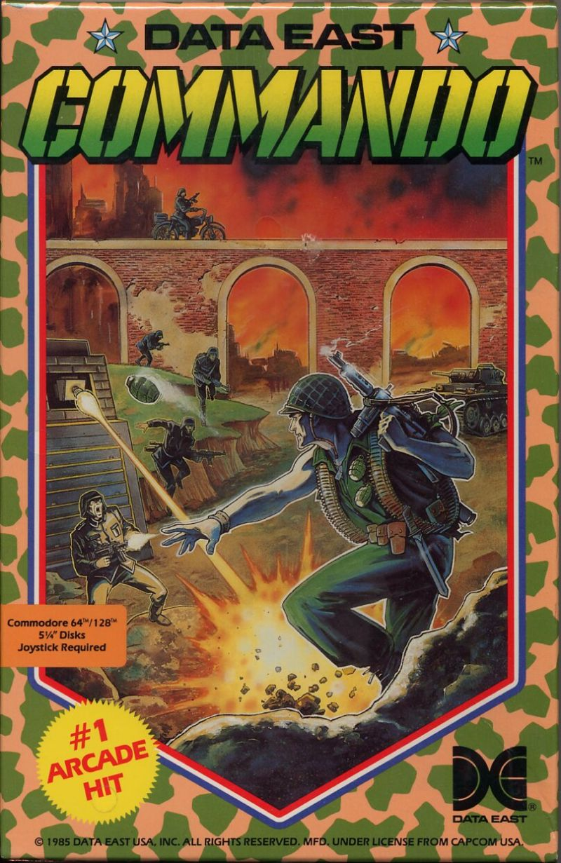 Commando Commodore 64 Front Cover