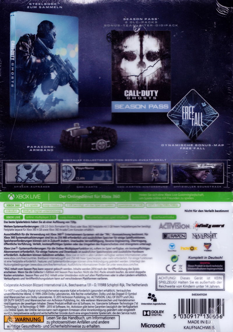 New xbox 360 call of duty ghosts hardened edition 47875846814 | ebay.
