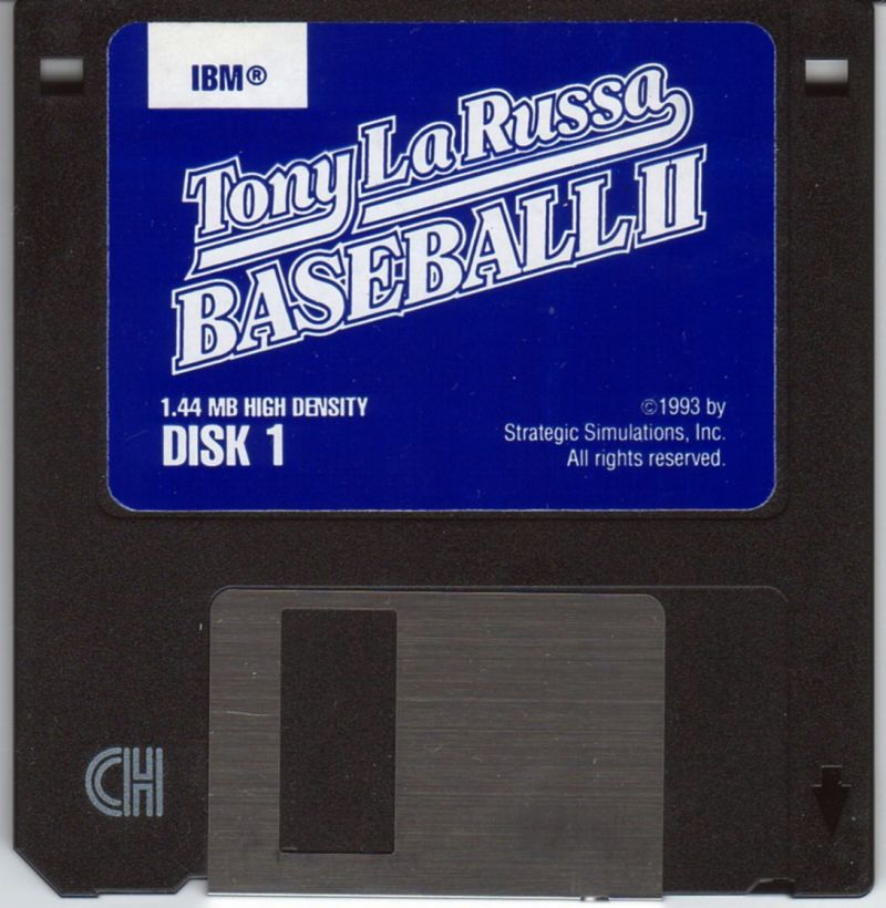 Tony La Russa Baseball II DOS Media Disk 1/6