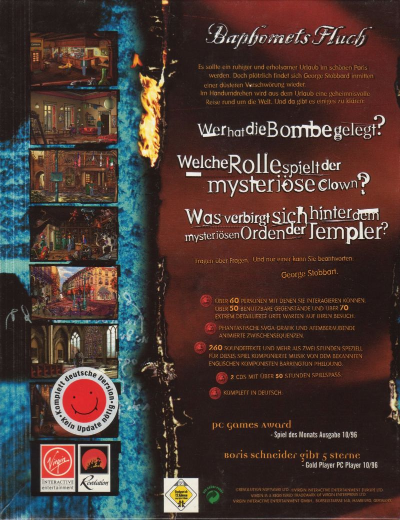 Circle of Blood DOS Back Cover