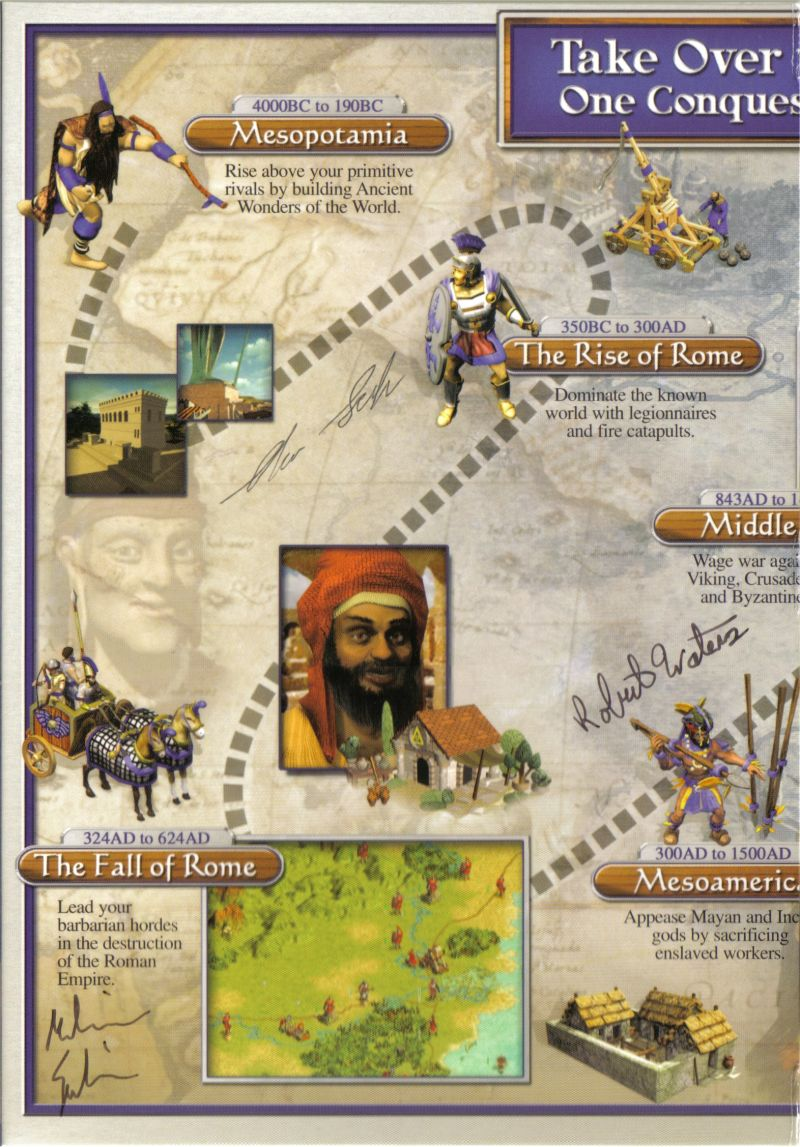 Sid Meier's Civilization III: Conquests Windows Inside Cover Left Flap