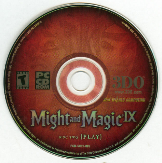 Might and Magic IX Windows Media Disc 2