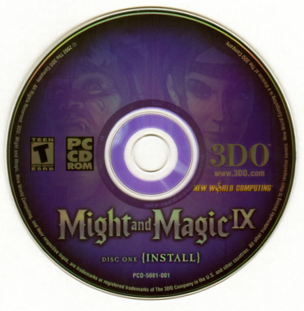 Might and Magic IX Windows Media Disc 1
