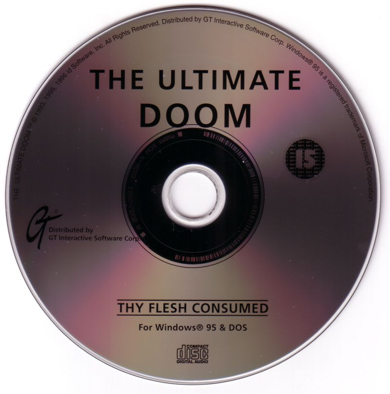 Quake and The Ultimate DOOM Compilation DOS Media The Ultimate Doom Disc