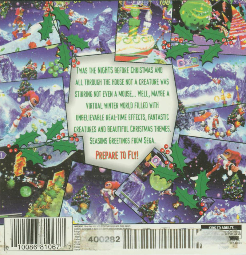 Christmas NiGHTS into Dreams... SEGA Saturn Back Cover