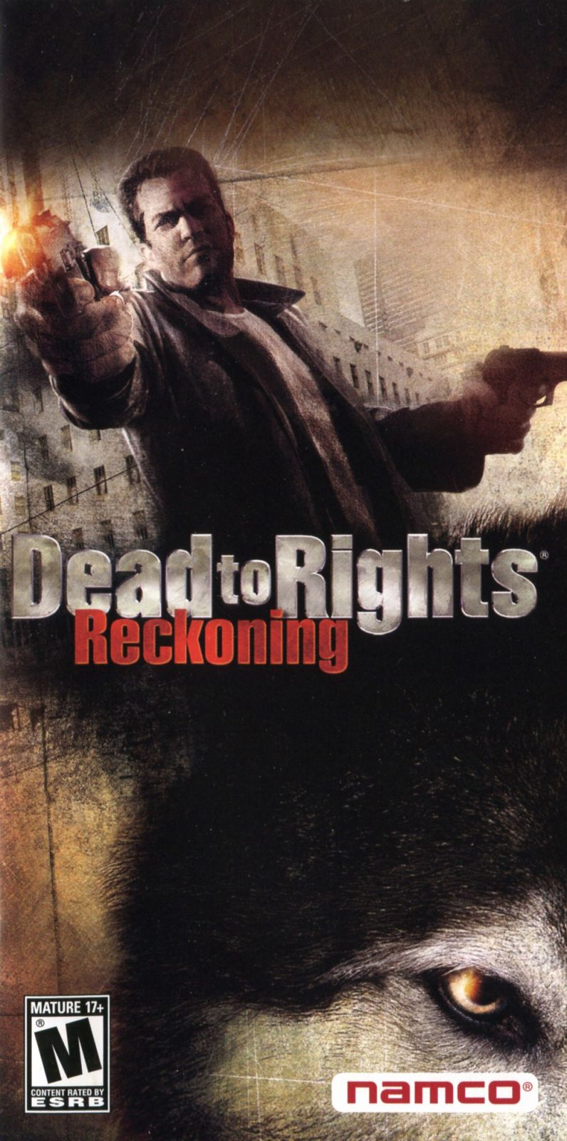 Dead to Rights: Reckoning PSP Manual Front