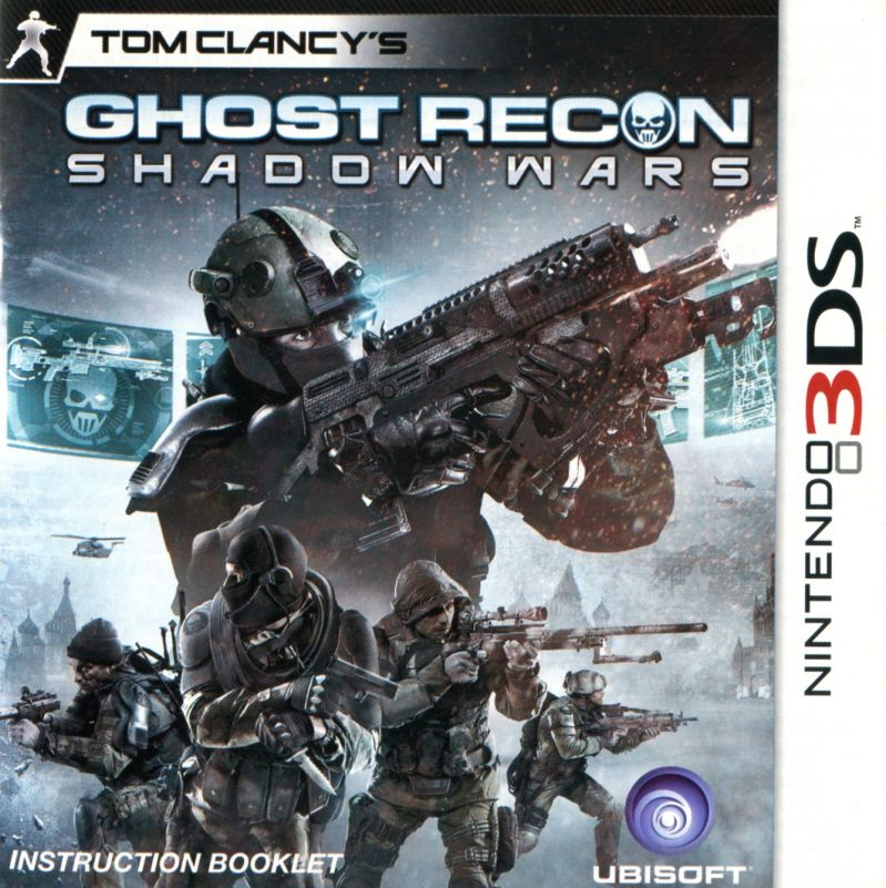 Tom Clancy's Ghost Recon: Shadow Wars Nintendo 3DS Manual Front (US)