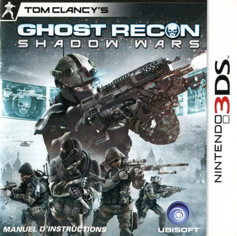 Tom Clancy's Ghost Recon: Shadow Wars Nintendo 3DS Manual Front (CDN)