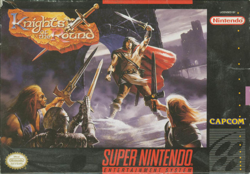 Knights of the Round SNES Front Cover