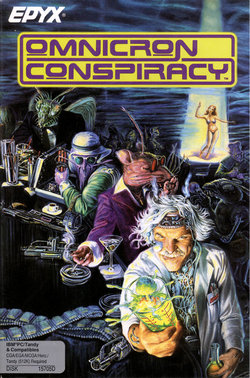 Omnicron Conspiracy DOS Front Cover