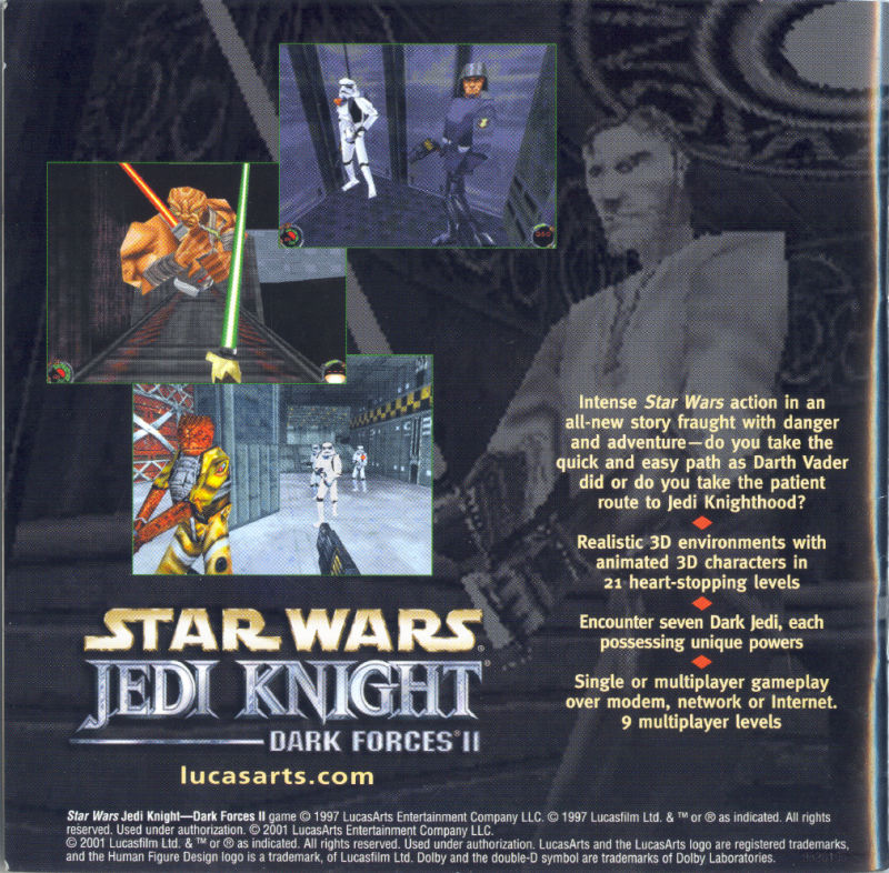 Star Wars: Jedi Knight - Dark Forces II Windows Inside Cover Left Inlay