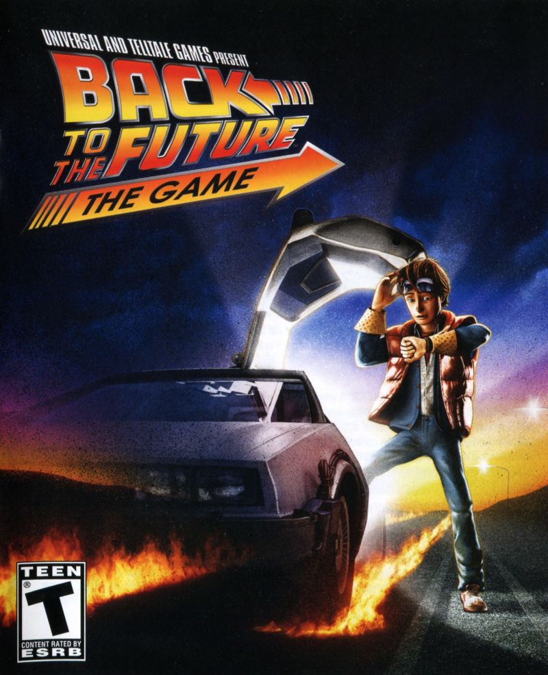Back to the Future: The Game PlayStation 3 Manual Front