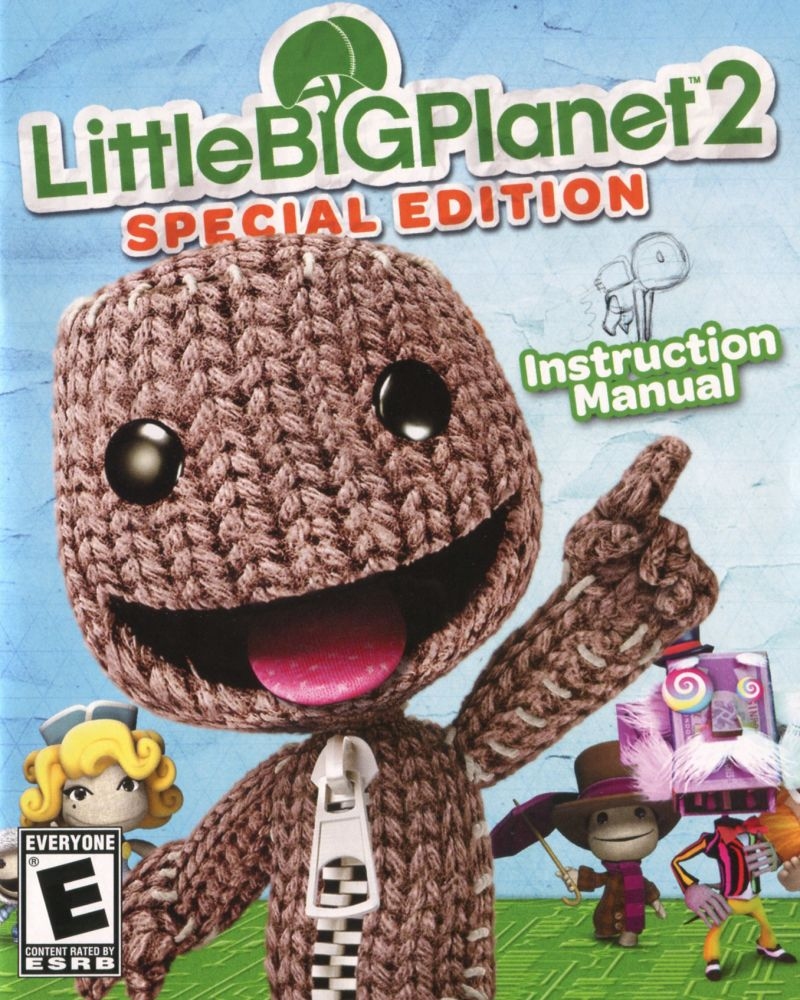 littlebigplanet 2 special edition 2011 playstation 3 box cover rh mobygames com little big planet 3 manual little big planet manual