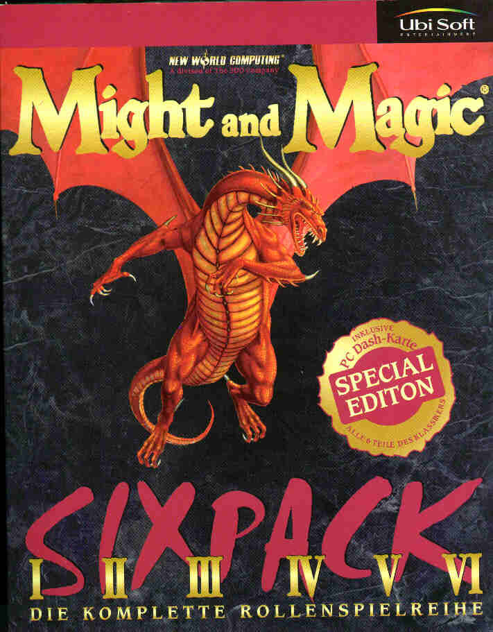 Might and Magic Sixpack DOS Front Cover