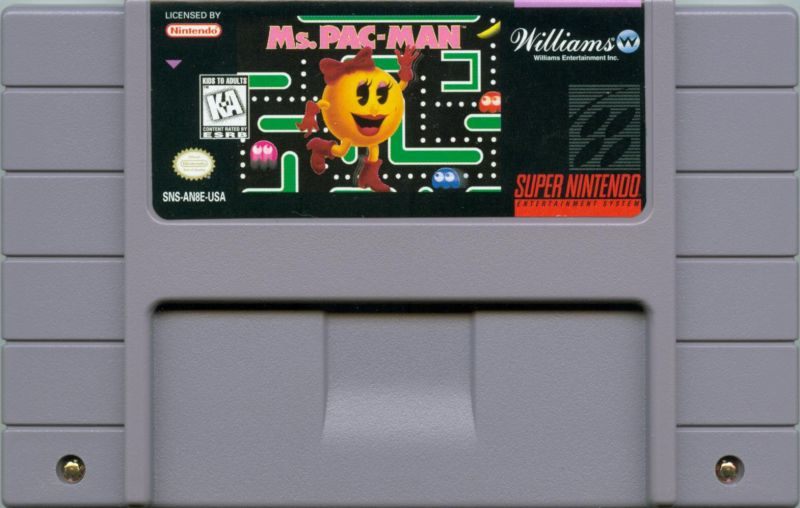 Ms. Pac-Man SNES Media