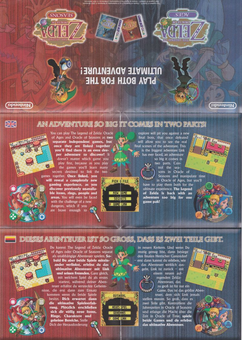 Gameboy color ad - Gameboy Color Uk The Legend Of Zelda Oracle Of Seasons Game Boy Color Advertisement Poster