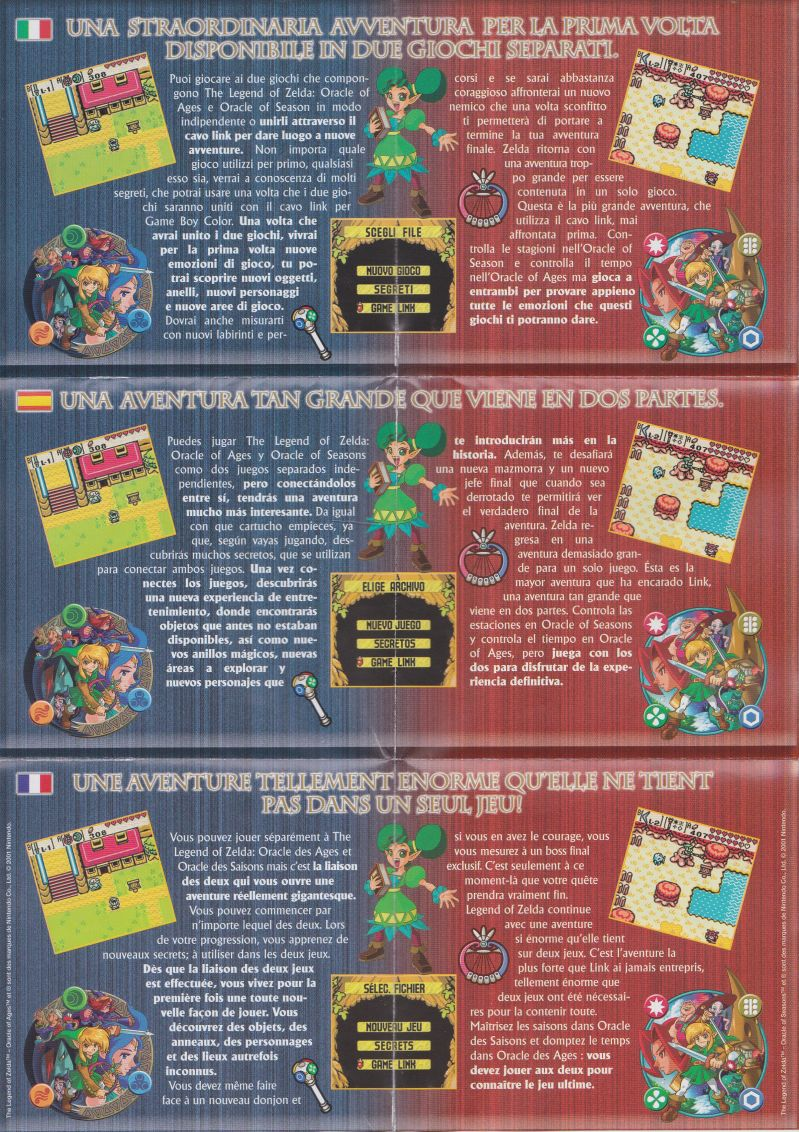 Gameboy color ad - Gameboy Color Zelda Games The Legend Of Zelda Oracle Of Seasons Game Boy Color Advertisement