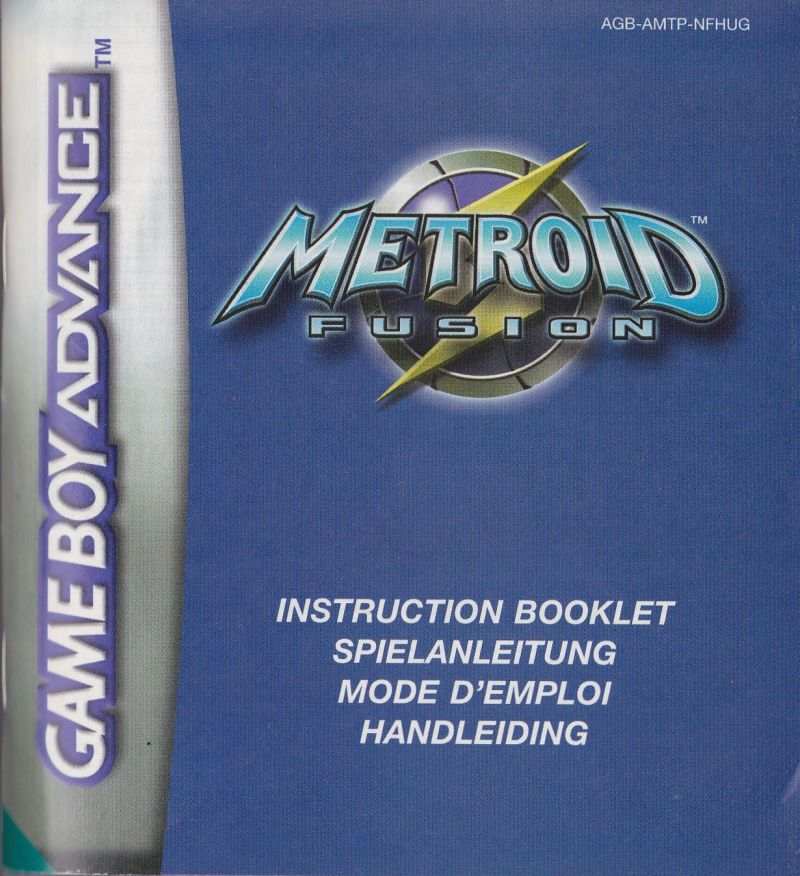 Metroid Fusion Game Boy Advance Manual Front