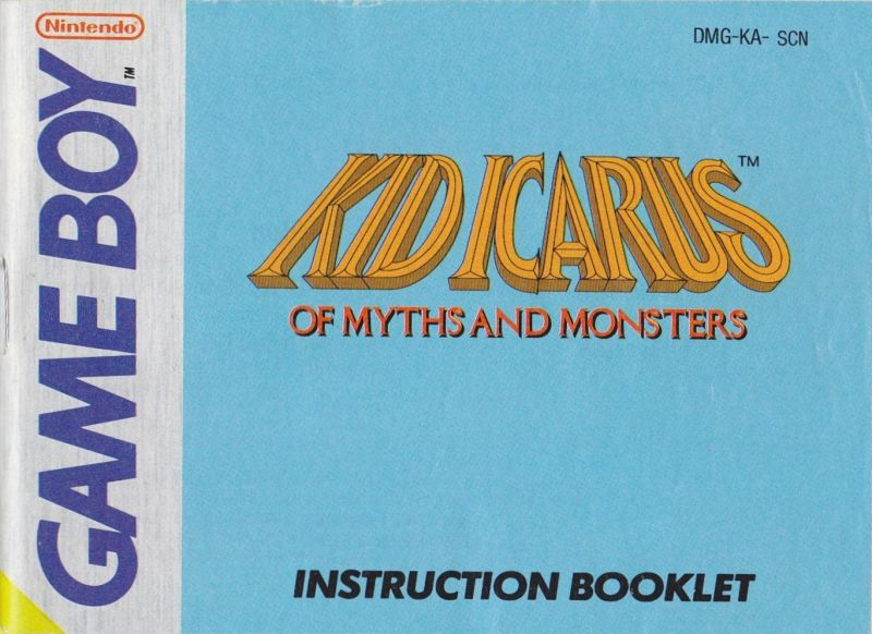 Kid Icarus Of Myths And Monsters Game Boy Manual