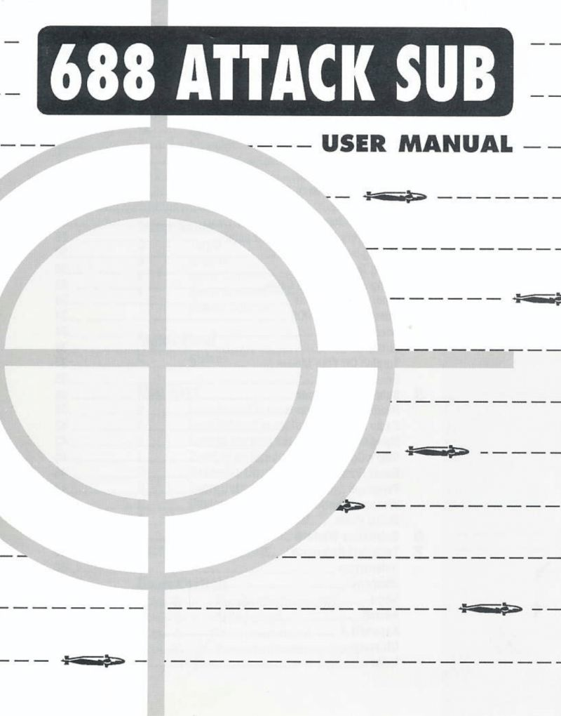 688 Attack Sub DOS Manual Front
