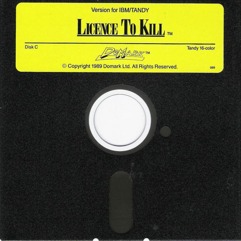 007: Licence to Kill DOS Media Disk C