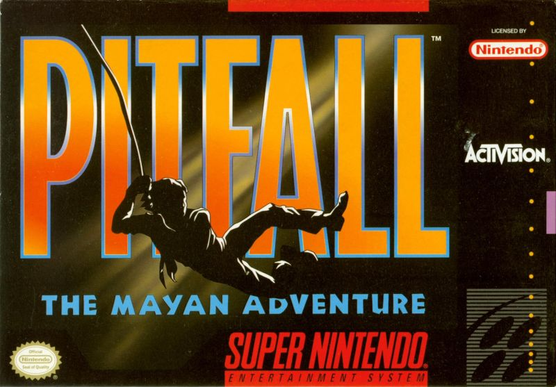 Pitfall: The Mayan Adventure SNES Front Cover