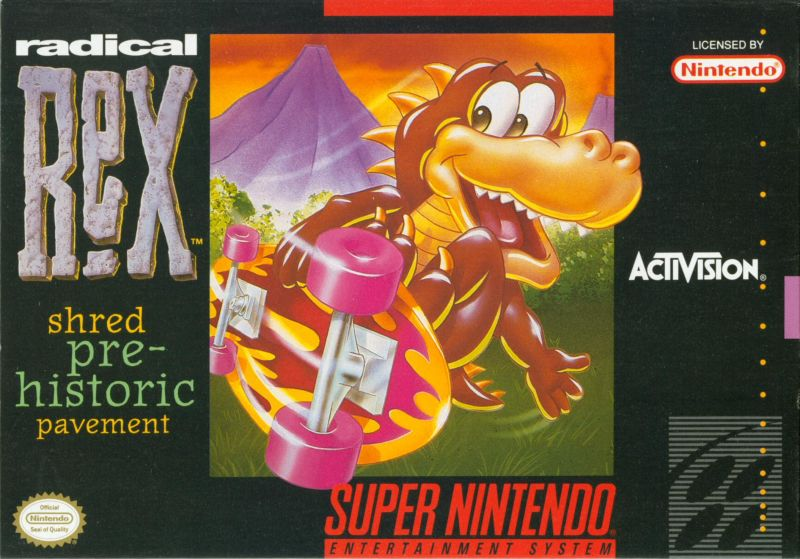 Radical Rex SNES Front Cover