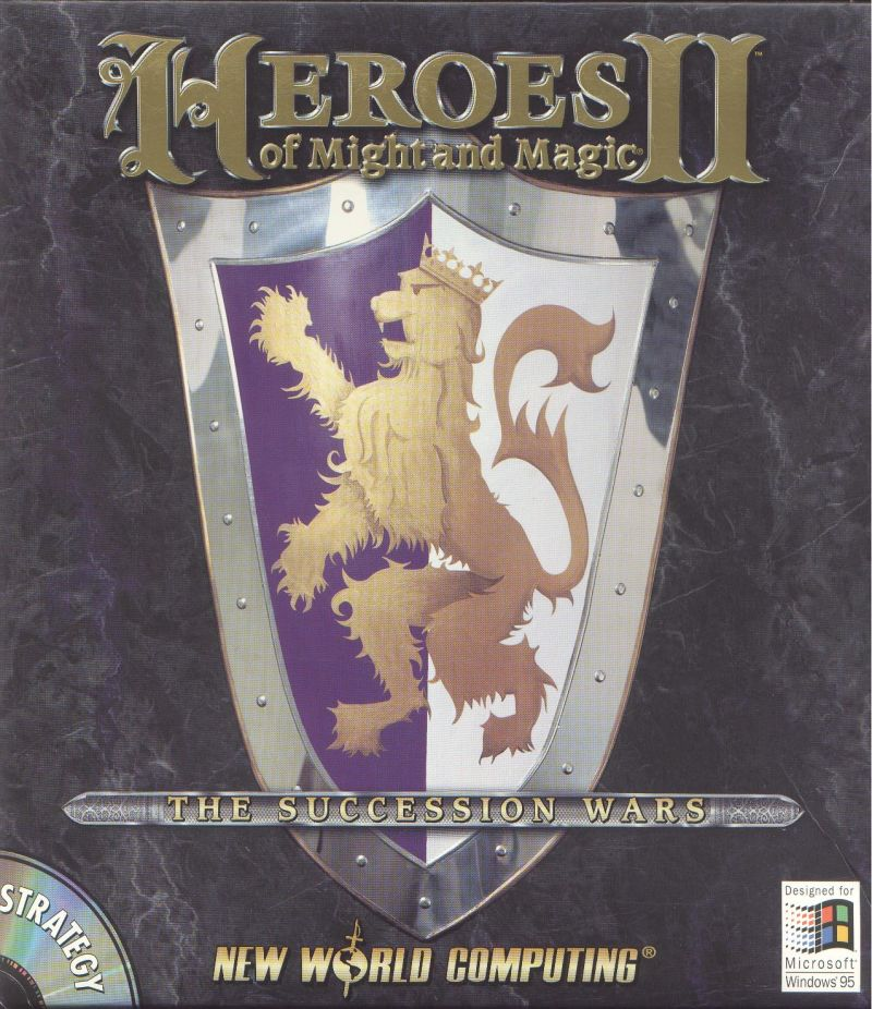 Heroes of Might and Magic II: The Succession Wars DOS Front Cover