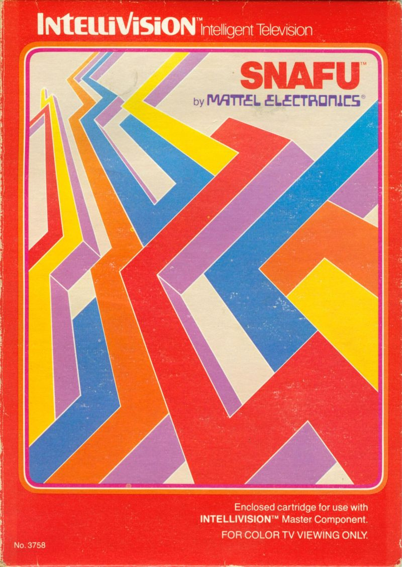Snafu Intellivision Front Cover