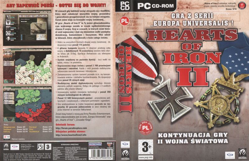 photo relating to Printable Game Covers called Hearts of Iron II (2005) Macintosh box deal with artwork - MobyGames