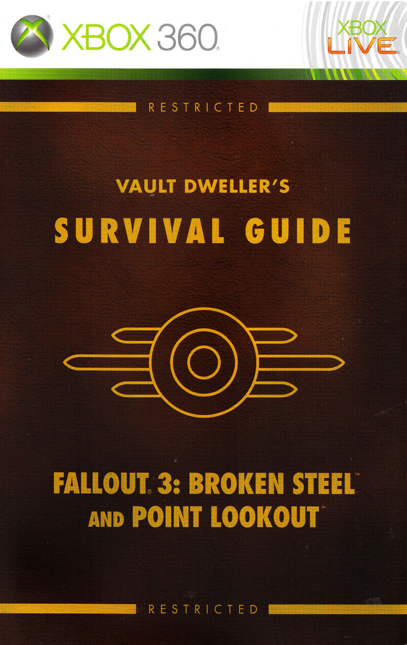 Fallout 3: Game Add-on Pack - Broken Steel and Point Lookout Xbox 360 Manual Front