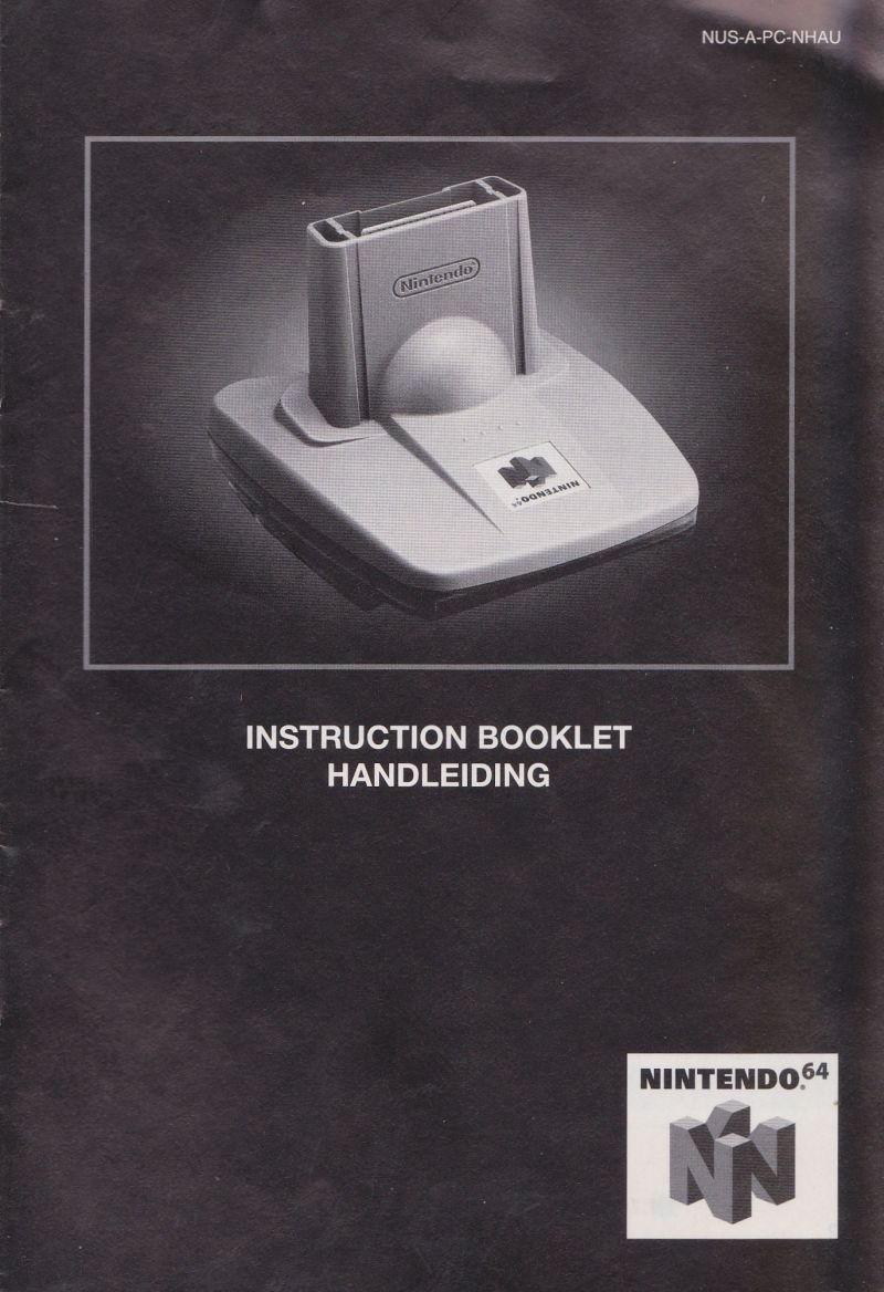 Pokémon Stadium Nintendo 64 Manual Transfer Pak Manual - Front