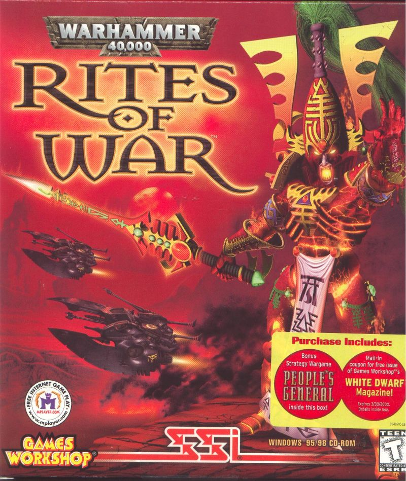 Warhammer 40,000: Rites of War Windows Front Cover