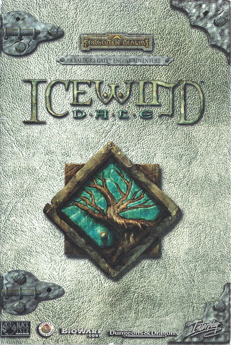 Icewind Dale Windows Manual Front