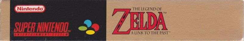 The Legend of Zelda: A Link to the Past SNES Spine/Sides Bottom/Top