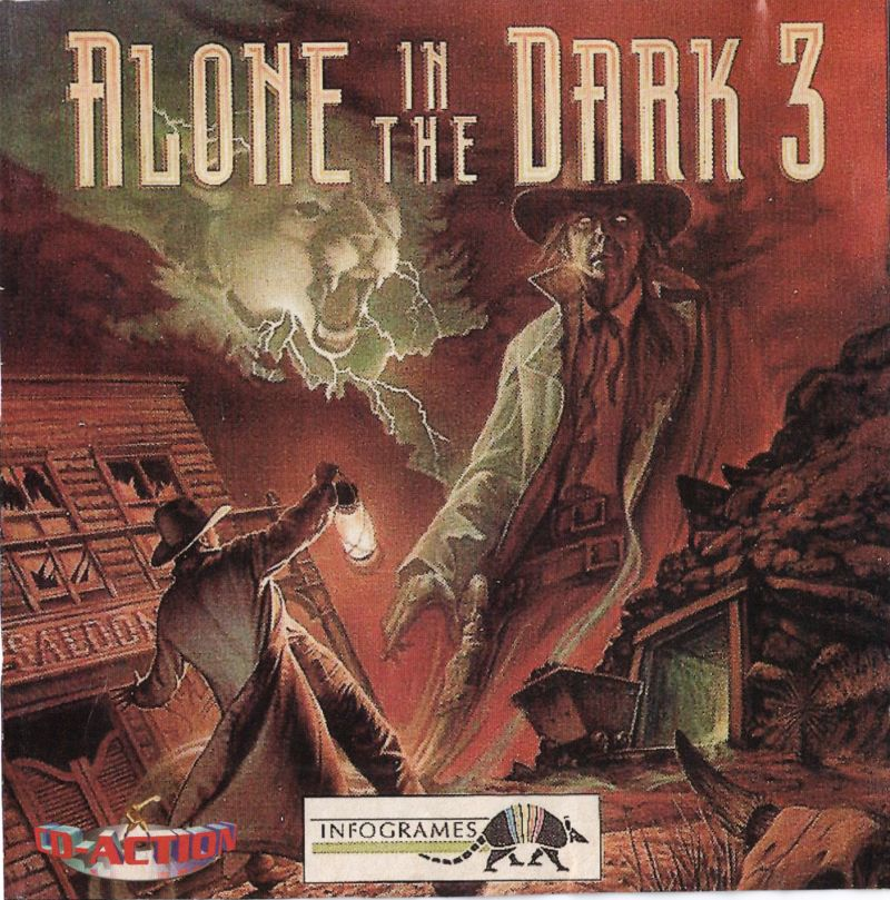 Alone in the Dark 3 DOS Other Jewel Case - Front (alternative cover, provided as part of magazine page to cut and use)