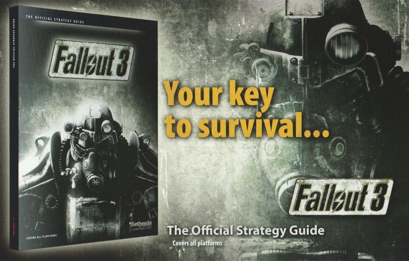 Fallout 3 Windows Advertisement Official Strategy Guide - Front