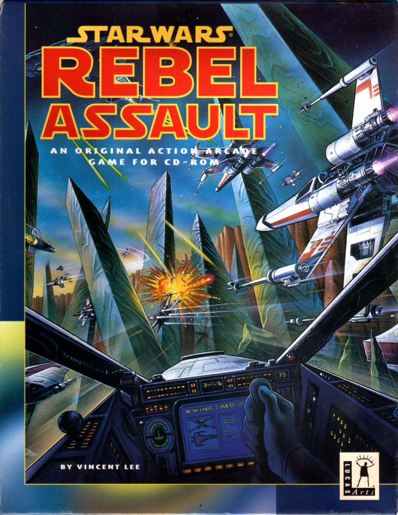 Star Wars: Rebel Assault DOS Front Cover