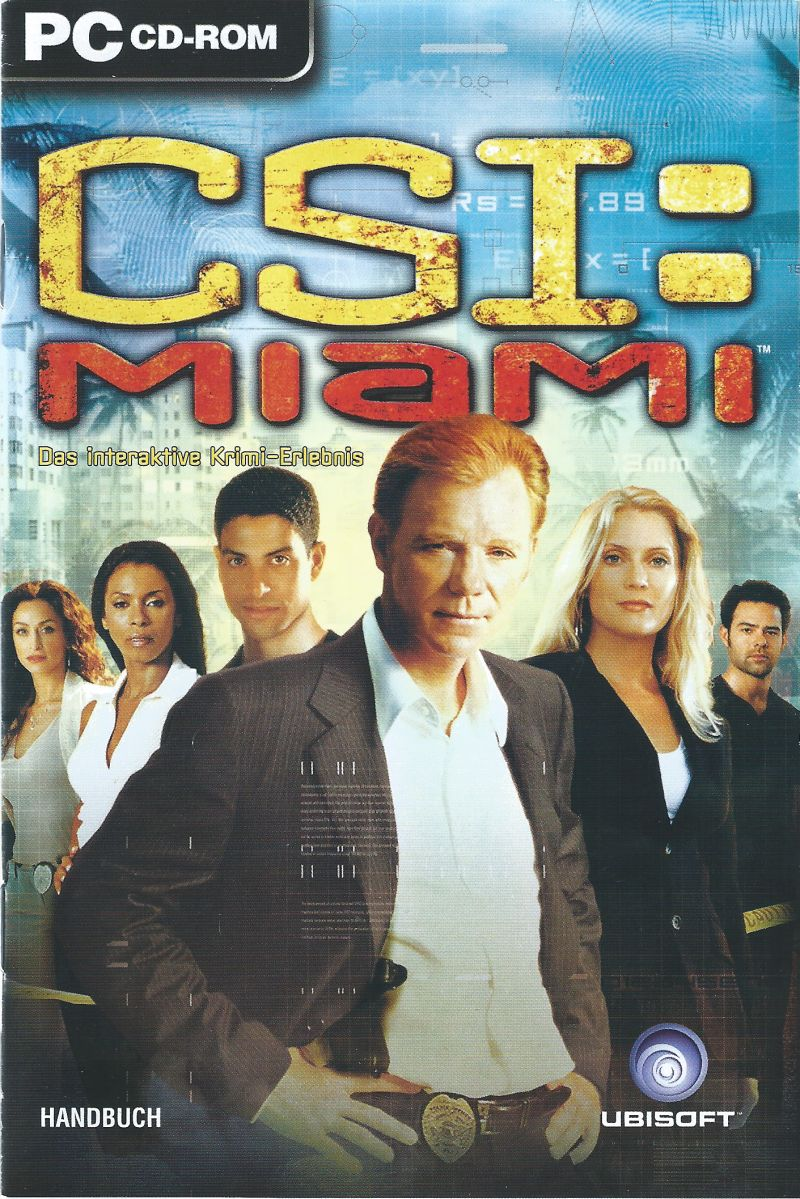 CSI: Miami Windows Manual Front