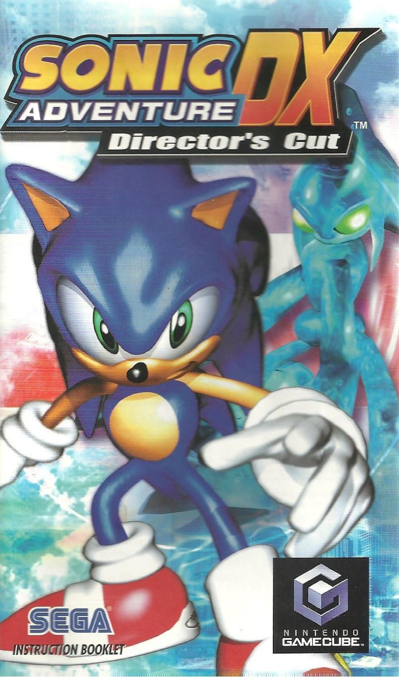 Sonic Adventure DX (Director's Cut) GameCube Manual Front