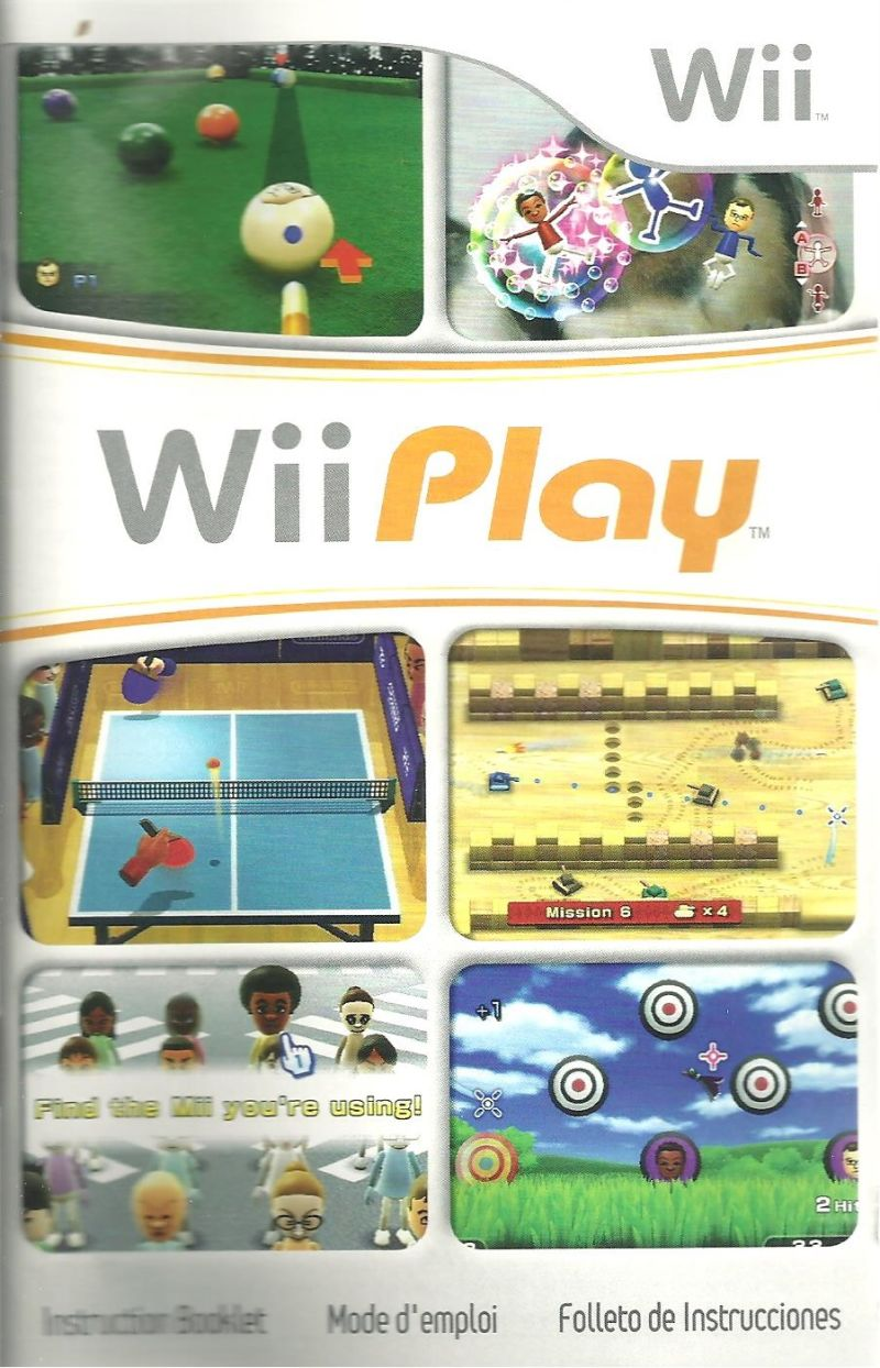 wii play 2006 wii box cover art mobygames rh mobygames com wii play instruction manual Wii Instruction Manual
