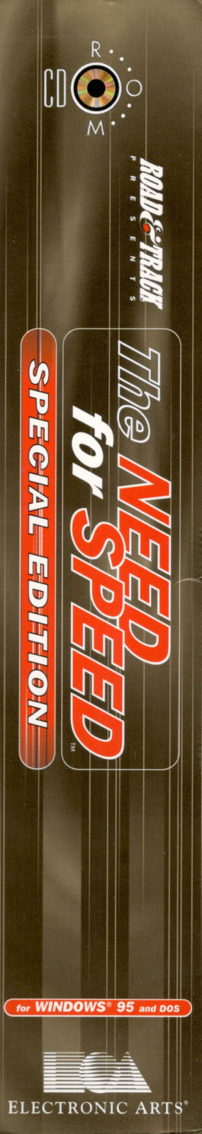 The Need for Speed: Special Edition DOS Spine/Sides Left/Right