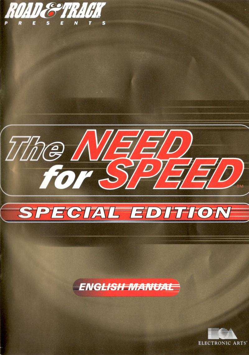 The Need for Speed: Special Edition DOS Manual Front
