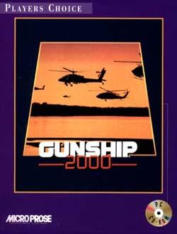 Gunship 2000 DOS Front Cover