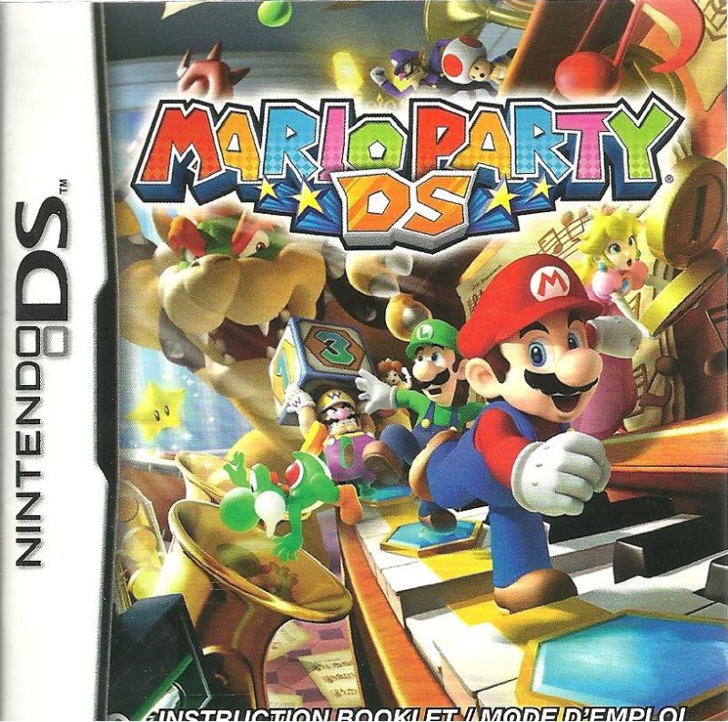 Mario Party DS Nintendo DS Manual Front
